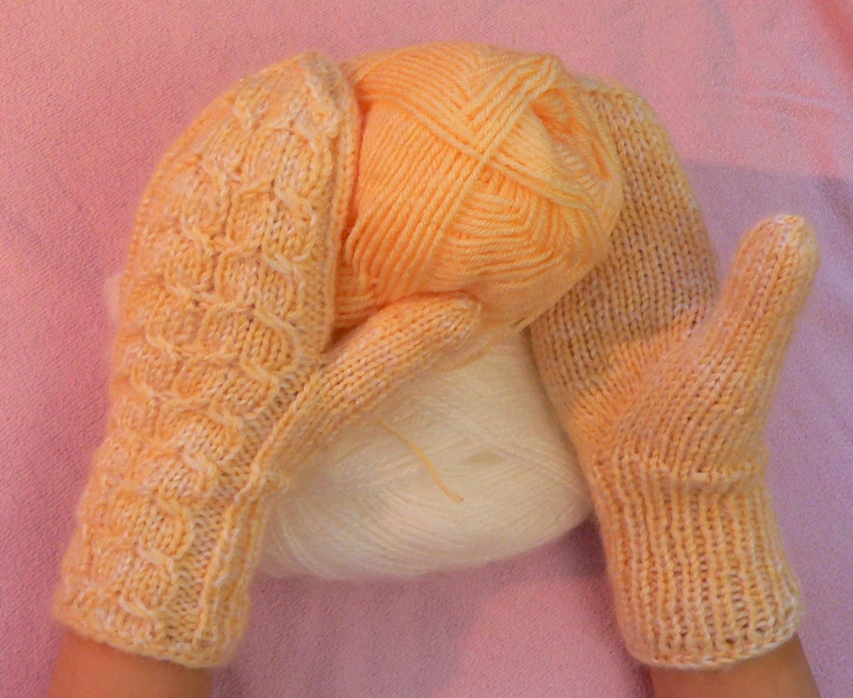 Варежки спицами большой палец вязание клином фото