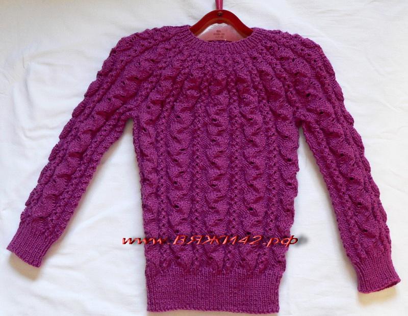 Детский свитер с круглой кокеткой