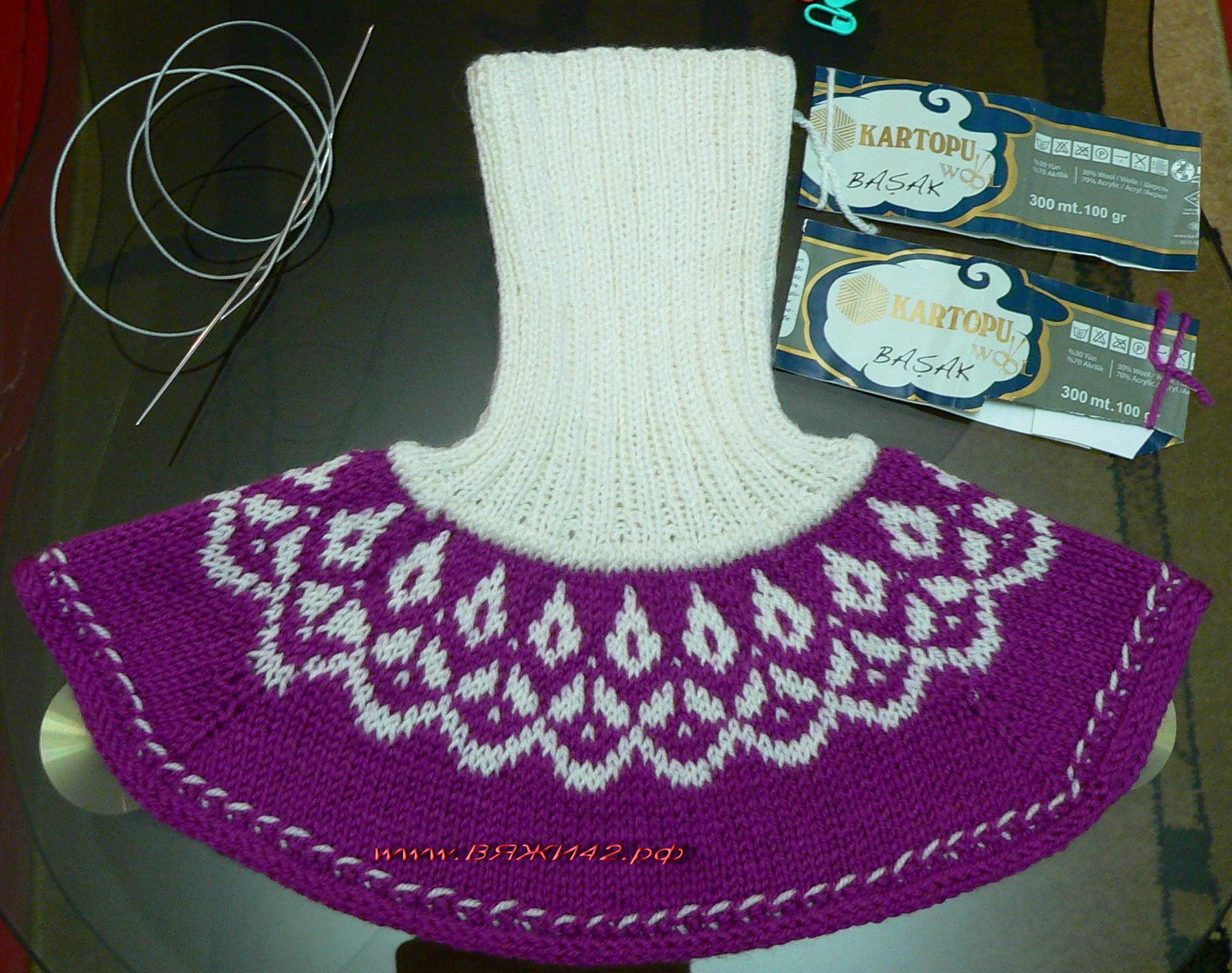 Вязание на спицах для женщин воротник манишка